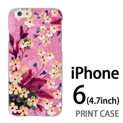 iPhone6 (4.7インチ) 用『0310 水中の花 ピンク』特殊印刷ケース【 iphone6 iphone アイフォン アイフォン6 au docomo softbank Apple ケース プリント カバー スマホケース スマホカバー 】の画像