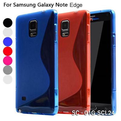 GALAXY Note Edge ケース/note edge/sc-01g/SCL24 TPUシリコン Barさらさらシリコンシンプルデザインケース 【レビューを書いてメール便送料無料】の画像