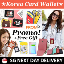 [Korean Hot Trend] 1+1  COWHIDE FUNCTIONAL ID CARD HOLDER★★KOREA FROMB★★/ Neck Wallet / LANYARD