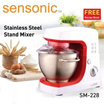 Sensonic 3.0L Stainless Steel Stand Mixer SM-228 / 600W Powerful motor / One Year Warranty