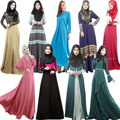 24/8 Updated【LOVE*FAMILY】**1 SHIPPING COST*** 2015 Jubah Dress Muslim Womens Clothing Long Sleeve Dress Traditional Muslim Women Clothing  LYQ029