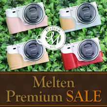 Melten Genuine Leather Camera Half Case For Sony Alpha A6000