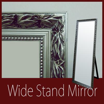 スタンドミラー 鏡 ミラー 姿鏡 レトロ アンティーク お洒落 ワイドミラー m092684の画像