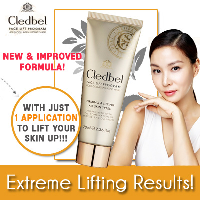 19.90 Buy 2 Free Qxpress! OFFICIAL STORE! CLEDBEL GOLD LIFTING MASK   ANTI AGING   INSTANT LIFT Deals for only S$54.9 instead of S$0