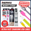 Remax Ultra Fast Quick Charge Charging USB Cable/Data Sync Lightning/Micro USB/Type-C/High Speed