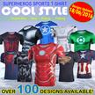 QUICK-DRY SPORTS T-Shirt List A Spiderman/batman/iron man/captain America/The flash/The Hulk/superhero Cycling jersey/Short sleeve BICYCLE SPORTS Avengers Superhero cosplay Gym christmas gift