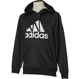 アディダス(adidas) ESSENTIALS ライトスウェットパーカー (裏毛) ブラック/ホワイト DJP51 BR0996