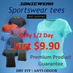 $9.90 Today only! Lady Fitted Tee Sportswear - IONICWEAR Sport wear Anti odour Dry fit
