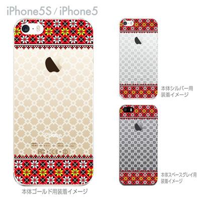 【iPhone5S】【iPhone5】【Clear Fashion】【iPhone5ケース】【カバー】【スマホケース】【クリアケース】【フラワー】【ウクライナ柄】 06-ip5s-ca0072の画像