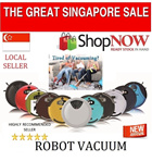 Robot Vacuum Cleaner + Singapore Seller + Ready Stock + Fresh Shipment Every Month + Dirt Detection + Mopping +Auto return to docking station for recharge + NO FRILLS JUST SAVE MORE!
