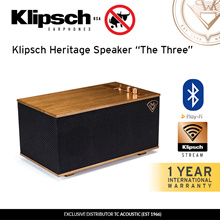 Klipsch Heritage Wireless Speaker - THE THREE (Bluetooth Wifi USB Phono Aux)