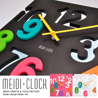 P★【送料無料】≪ポイント10倍≫[スクエア型]存在感あるオシャレな個性派デザイン 壁掛け時計 ウォールクロック(時計 壁掛け 掛け時計 かけ時計 贈り物 インテリア デザイン 掛時計 壁掛け時計 DIY クロック オフィス ブラック/ホワイト/ピンク)の画像