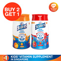[GSK SG Official E-Store] 【BUY 2 FREE 1 + HORLICKS MUG!】Scotts Chewable Gummy Strawberry/Orange Flavour 60s|DHA Gummies| For Healthy Vision Immunity Healthy Growth and Bone Development
