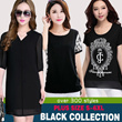 NEW black dresses and tops collection good quality best selling plus size lowest price