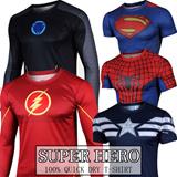 [Plus size XXS-4XL]QUICK-DRY Spider-man/batman/superman/iron man/captain America/The flash/The Hulk/Hero Reflective coat armor Life Cycling Wears/Short sleeve BICYCLE SPORTS WEAR