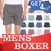 [GET4pcs] Branded Mens Woven Boxers_20 MOTIF BARU_Super Comfortable Material_Underwear_Celana Boxer_Celana pendek_pakaian dalam pria