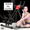◣ Ab Vertical Cruncher◥★Easy and Foldable ★ Abs Trainer Workout Bench Indoor ★ Home Gym Exercise