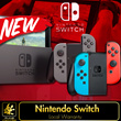 NEW Nintendo Switch w Grey / Neon Blue and Neon Red Joy-Con.2 Games + 3 Amiibo Figure.Local Warranty