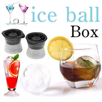 Innovation Life▶Set of 2 Sphere Ice Moduls for Drinks◀GDA-2.5″ Cocktail n Juice Drinks Ice Balls/ BPA Free n Recyclable Beverage Ice Moulds/ Easy use