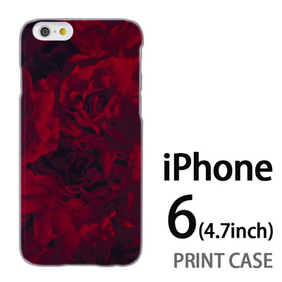 iPhone6 (4.7インチ) 用『0311 薔薇 赤』特殊印刷ケース【 iphone6 iphone アイフォン アイフォン6 au docomo softbank Apple ケース プリント カバー スマホケース スマホカバー 】の画像