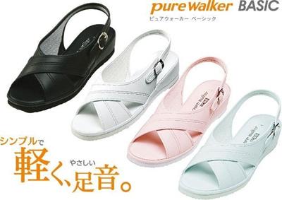 (B倉庫)Pure Walker ピュアウォーカー 7602 ナースサンダル オフィスサンダル レディースサンダル Daimatu PW7602の画像