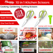 ▲Shoppy 10 In 1 Kitchen Tool Buy 1 FREE 1 / Scissors Screwdriver Wire Stripper Peeler Knife Christmas Housewife Clever Convenient Fruit Vegetable / Craft Gardening / Multi Blade Heavy Duty All in One