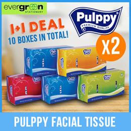1+1 BUNDLE! Pulppy Facial Tissue 2-PLY 150s 5 box/bundle