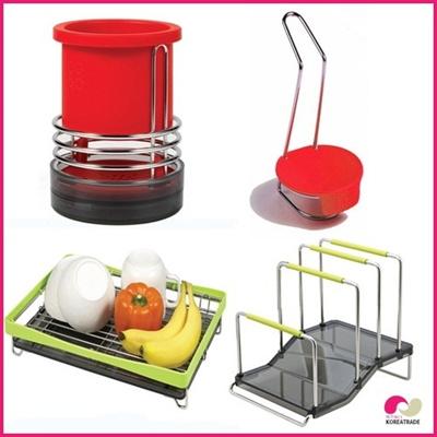 【日用品】 spider loc  kitchenキッチン 4setC(red)の画像