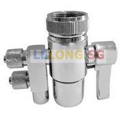 2 Ways Faucet Adapter 1/4 inches input output 2 Ways Faucet Diverter SS 2 Ways Adapter Water Tap Adapter Water Tap diverter spare part