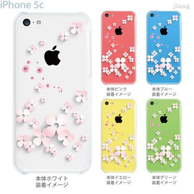 【iPhone5c】【iPhone5cケース】【iPhone5cカバー】【iPhone ケース】【クリア カバー】【スマホケース】【クリアケース】【フラワー】【Vuodenaika】 21-ip5c-ne0056の画像