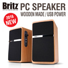 ★Britz 2016 NEW★ 2.0CH PC LAPTOP USB Power Speaker / Dynamic Accustic Sound Z-2100 Pinacle2 / MDF Wooden Made / USB Power / Premium Speaker