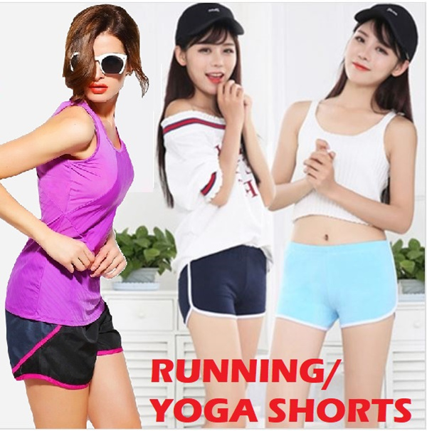 Women Running Sport Yoga Shorts Ladies Woman Quick Dry Cotton Short Pants Deals for only S$7.9 instead of S$0