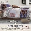 [Rinco Bonington] Premium Bedsheets / High Quality Bedsheets / Microfine Wrinkle Free / Soft Silky Feel / Easy Care / 500 Thread Count