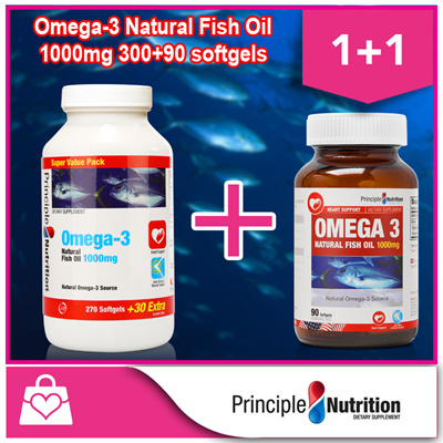 Qoo10 1 1 principlenutrition omega 3 natural fish oil for Oily fish list