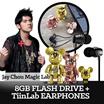 [Limited Edition]【Qee x Choicee】 Jay Magic Lab Digital USB Earphone perfect Set ★LIMITED SET