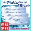 【送料無料】ワンデーアキュビューモイスト!4箱セット!【使い捨てコンタクト】