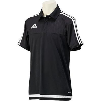 アディダス(adidas) TIRO15 ポロシャツ MHU09 S22436 ブラック/ホワイト/ブラック 【サッカー ウェア ウエア トレーニング】の画像