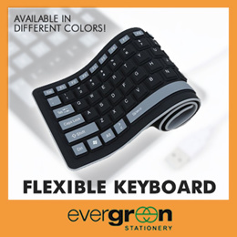 Flexible Silicone Keyboard * The virtually indestructible keyboard.