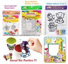 [Goodie Bag] Suncatcher Photo Frame / Keychains / Children Art and Craft / Painting Kit / Window Art