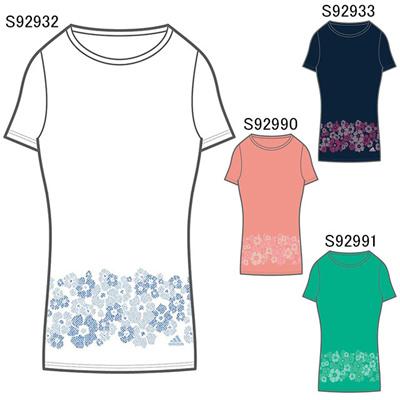 アディダス (adidas) レディース adidas24/7 ナデシコガラ セットインスリーブ UV Tシャツ KBZ48 [分類:Tシャツ (レディース)]の画像