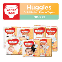 [Carton Deals] HUGGIES GOLD (Pullup Pants / Tape) - available in all sizes