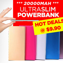 SG 20000mah Ultra Thin Slim Dual USB Power Bank Batery For Samsung For S5 S4 Note3 Note2 iPhone 4/4s/5/5s/5c/6/6S/6PLUS iPad Power Bank