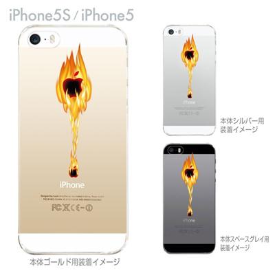 【iPhone5S】【iPhone5】【iPhone5sケース】【iPhone5ケース】【カバー】【スマホケース】【クリアケース】【クリアーアーツ】【アップルから炎】 06-ip5s-ca0151の画像