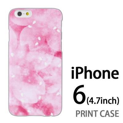 iPhone6 (4.7インチ) 用『0312 かすみ桜 ピンク』特殊印刷ケース【 iphone6 iphone アイフォン アイフォン6 au docomo softbank Apple ケース プリント カバー スマホケース スマホカバー 】の画像