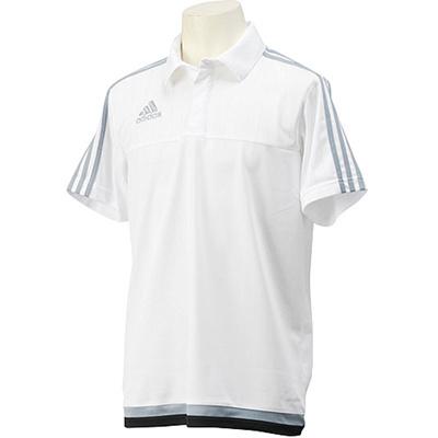 アディダス(adidas) TIRO15 ポロシャツ MHU09 S22437 ホワイト/ライトグレー/ブラック 【サッカー ウェア ウエア トレーニング】の画像