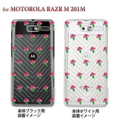 【MOTOROLA RAZR ケース】【201M】【Soft Bank】【カバー】【スマホケース】【クリアケース】【ピンクきのこ】 22-201m-ca0017の画像