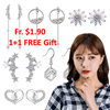 1+1 FREE Gift/20 Mar New Arrivals Super Sale Korean Earrings with silver post