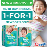 [PnG] (1-FOR-1 PROMO!) NEW n IMPROVED! Pampers Baby Dry Tape- Gives your baby UP TO 12 HOURS of superior overnight dryness n comfort with its soft stretchy sides. Now available in XXL.