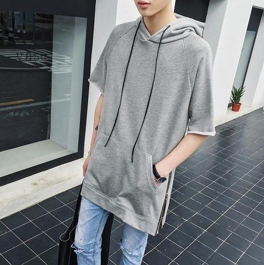 【クリックで詳細表示】Mens Fashion メンズファッション トップス グレー ブラック2色展開 a284-0020 【直送品の為、代引き不可】