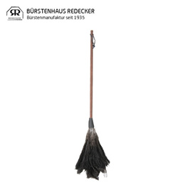 Redecker レデッカー Straubenwedel mit schwarzem Griff、 80 cm オーストリッチ羽はたき 80cm Black ブラック 468880